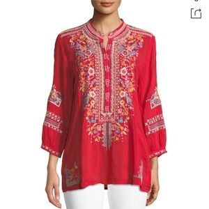 Johnny Was Bethanie embroidered tunic top